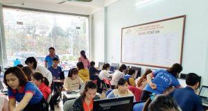Lớp tin học văn phòng thực hành ở Thanh Hóa